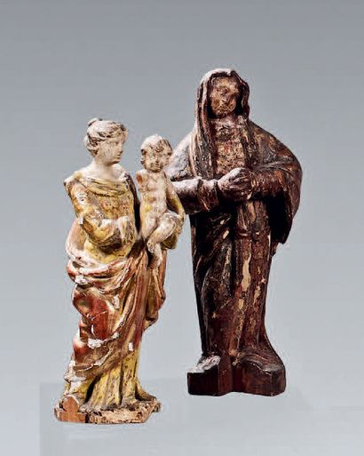 Virgin and child probably Flanders. A figure...