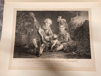 Jacques-Firmin BEAUVARLET (1731-1797) The Children of the Duke of Bethune After F....