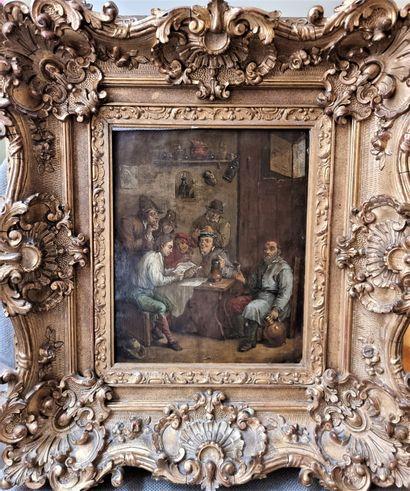 Ecole ANGLAISE du XVIIIème siècle, dans le goût de TENIERS