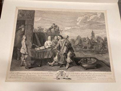 David Teniers (1610-1690) d'après Teniers and his family Le Concert miaulique Two...