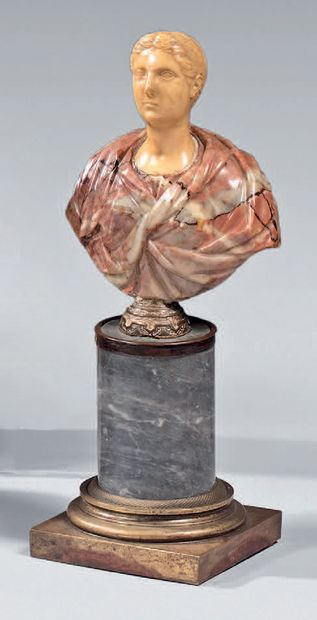 Bust in breccia marble or yellow for the...