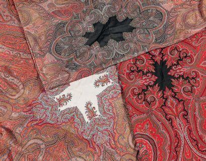 Three cashmere shawls with boteh motifs....