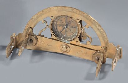 *Graphometer in brass with pierced and engraved...