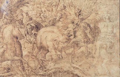 École FLAMANDE vers 1600, entourage d'Antonio TEMPESTA