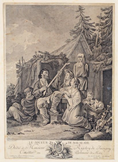 Jean-Baptiste LE PRINCE (1734-1781) d'après The Balalaye Player With: the Various...