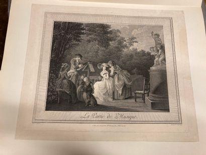 Nicolas LAVREINCE (1737-1807) d'après Le Concert agréable - La Partie de musique...