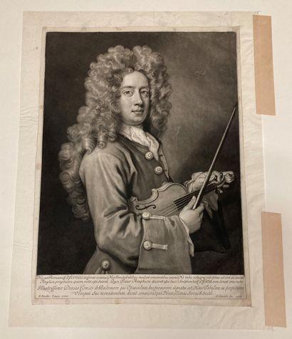 Godfrey KNELLER (1646-1723) d'après Nicolas Cosimo Engraved by J. Smith. Mezzotinto....