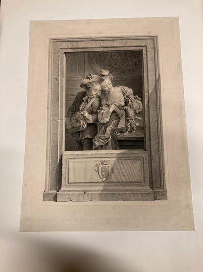Charles EISEN (1720-1778) d'après Les Amusements de la jeunesse Gravé par Manuel-Salvador...