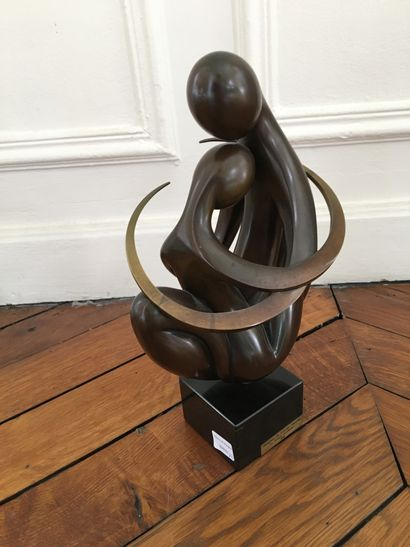 Ludmilla TCHERINA  Groupe en bronze n°3/8,...