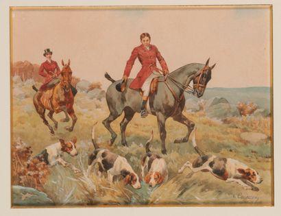 Charles de CONDAMY (c.1855-1913). Veneur,...