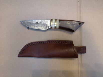 Grande dague Perkin, forte lame damas de...