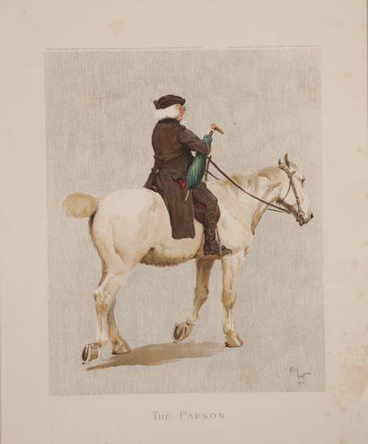 Cecil ALDIN. The Parson. Rare gravure en...