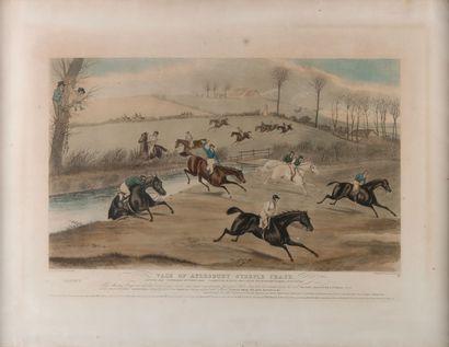 F.C. TURNER. Deux gravures en couleur de la série VALE OF AYLEBURY STEPLE CHASE....