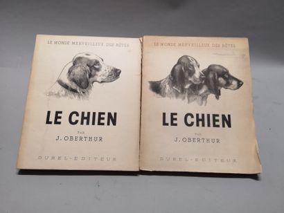 Joseph OBERTHUR. Le chien. Deux volumes...