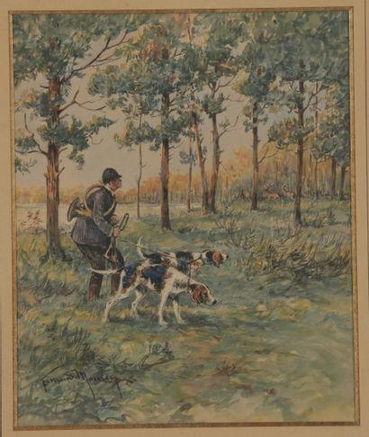 Fernand MAISSEN (1873-?). Valet de limier....