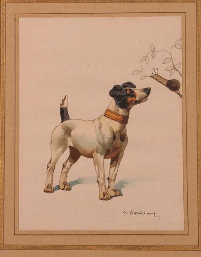 Charles de CONDAMY (c.1855-1913). Chien et...