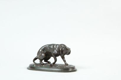 Victor CHEMIN (1825 - 1901). Basset. Bronze...