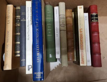Ensemble de 13 volumes dont : Duc de Brissac,...