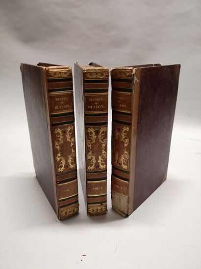 Oeuvres de Buffon en trois volumes. Paris,...