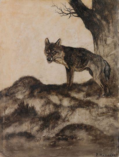 Paul MARCUEYZ (1877-1952). Le Loup. Encre...