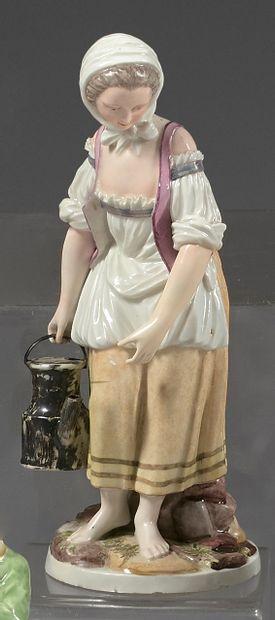 Statuette en porcelaine de Zurich du XVIIIe...
