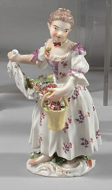 Statuette en porcelaine de Meissen du XVIIIe...