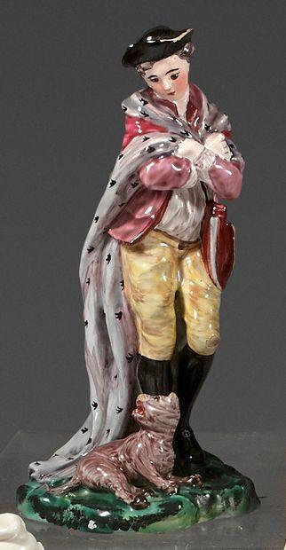 Statuette en faïence de Lunéville du XVIIIe...