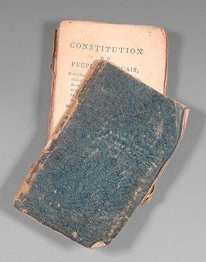 Constitution du Peuple Français à Paris,...
