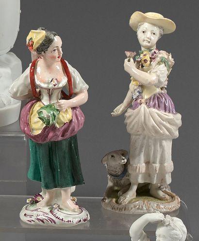 Deux statuettes en porcelaine tendre du XVIIIe...