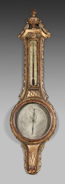 Baromètre-thermomètre selon Toricelli en...
