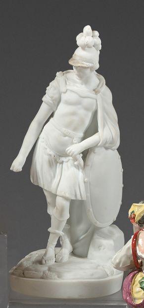 Statuette en biscuit de porcelaine de Niderviller...