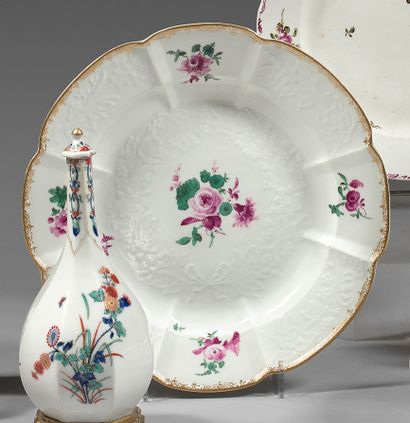 Assiette en porcelaine de Meissen du XVIIIe...