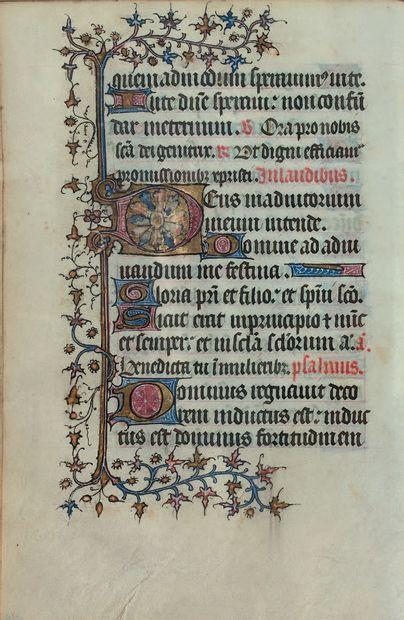 [HEURES MANUSCRITES ENLUMINÉES]. Livre d'heures manuscrites du milieu du XVe siècle...