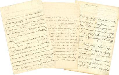 """Laure, duchesse d'ABRANTÈS. 2 L.A., one signed """"la dsse d'A[""""circa 1832[, to his..."""