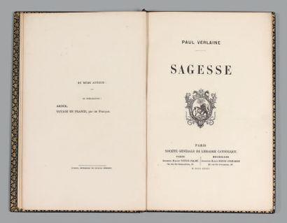 VERLAINE (Paul). Wisdom. Paris, Société Générale de Librairie Catholique, 1881. In-8°,...