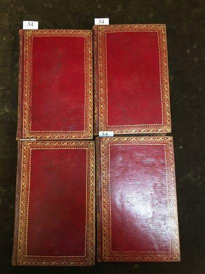 REGNARD (Jean François). OEuvres. A Paris, Chez Maradan, Libraire, 1790. 4 volumes...