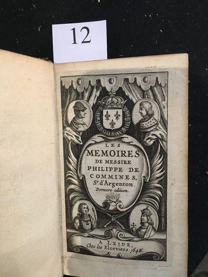 [COMMYNES (Philippe de)]. Memoires de Messire Philippe de Commines, sr d'Argenton....