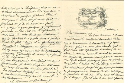[Anatole FRANCE]. Léontine ARMAN de CAILLAVET. 11 L. A. S. [September-December 1909[...