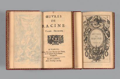 RACINE (Jean). OEuvres. A Paris, Chez Claude Barbin, 1676. 2 volumes in-12 (87 x...