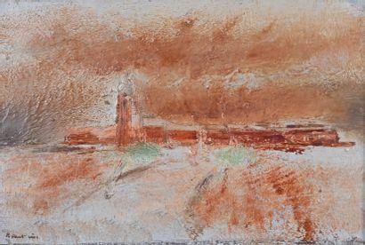 Jean FAUTRIER (1898-1964) La jetée, vers 1929 Huile sur toile, signée en bas à gauche,...