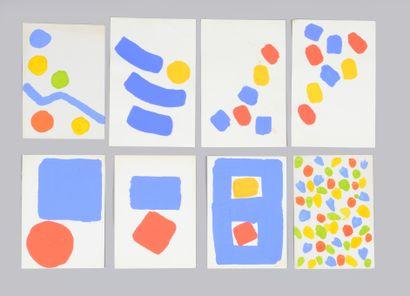 Albert CHUBAC (1925-2008) Sans titre Ensemble de quinze gouaches. Entre 14,5 x 11,5...