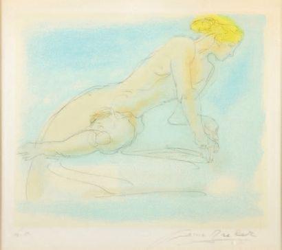 Arno BRECKER (1900-1991) Nu allongé en appui sur ses avant-bras - Nu étendu sur le...
