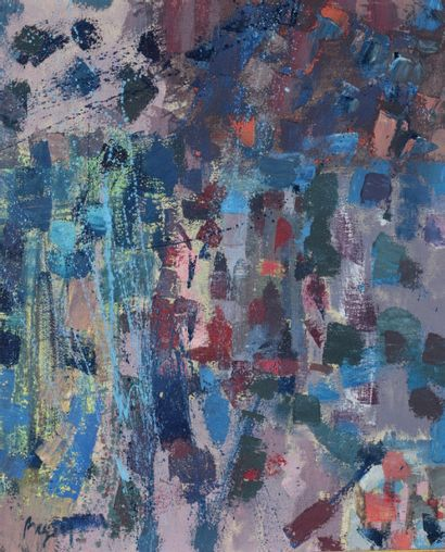 Camille BRYEN (1907-1977) Untitled, 1958 Oil on canvas, signed lower left and annotated...