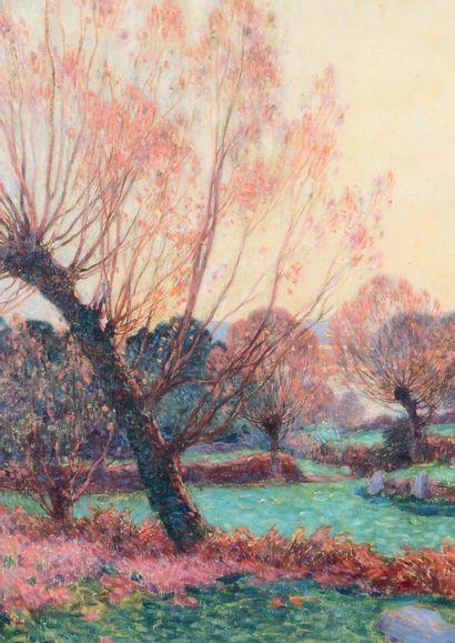 Ferdinand Loyen du PUIGAUDEAU (1864-1930) Paysage aux alentours de Clis (Guérande)...
