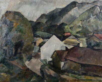 Henri GRAMAH (1887-1947) Paysage du Tyrol, Golling, 1922 Huile sur toile, signée...