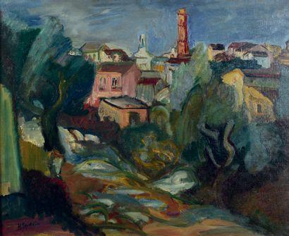Henri EPSTEIN (1892-1944) The village Oil on canvas, signed lower left. 54 x 65 cm....