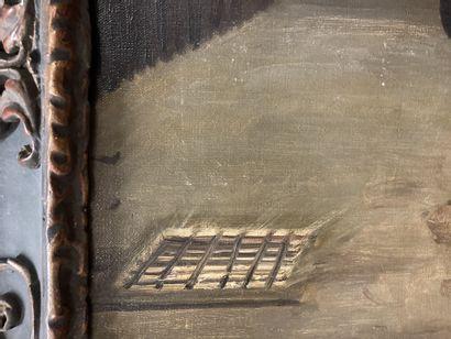 Jean-Paul LAURENS (1838-1921) Le prisonnier Huile sur toile, signée en bas à droite....