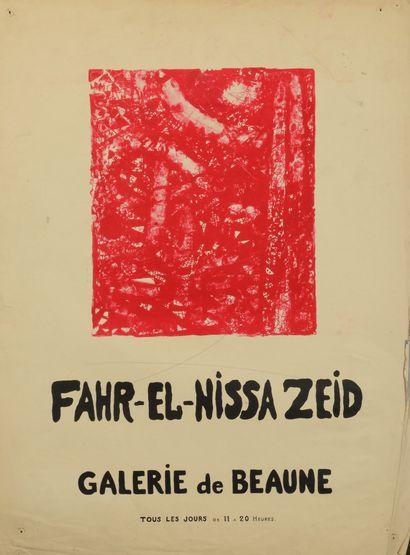 Fahrelnissa ZEID ou Fahr-el-Nissa ZEID (1901-1991) Peintures - gouaches - lithos...