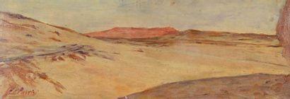 Georges Jules Victor CLAIRIN (1843-1919) Désert Huile sur carton, signée en bas à...