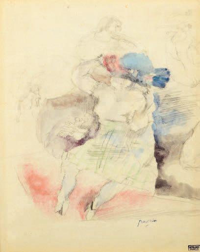 Jules PINCAS dit PASCIN (1885-1930) L'essayage du chapeau ou Le joli chapeau, USA,...